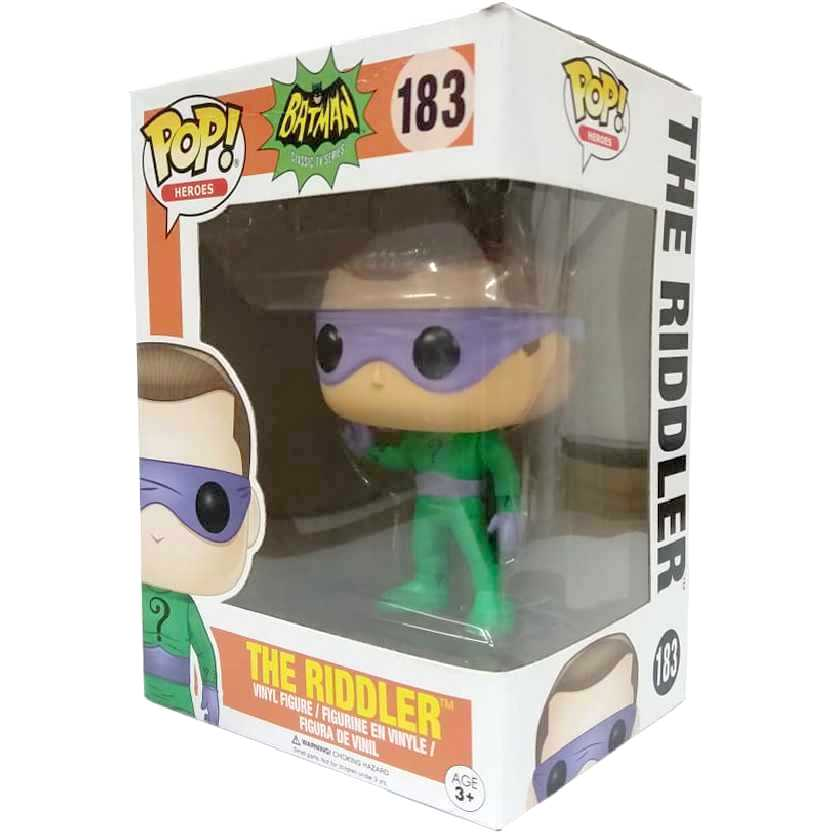 Funko Pop Heroes Classic TV Batman Charada ( The Riddler ) vinyl figure número 183