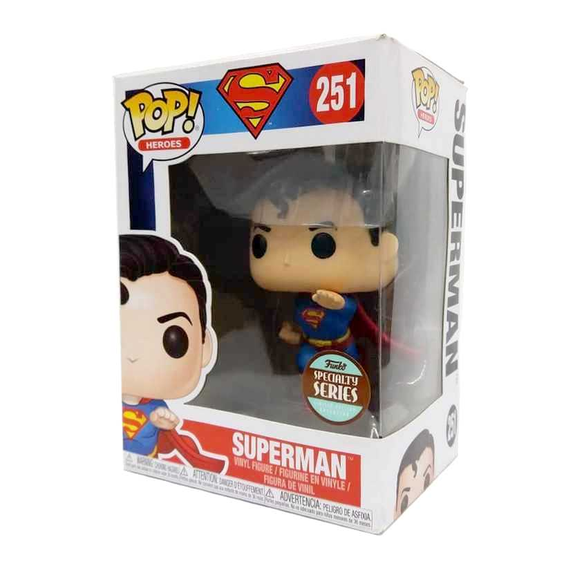 Funko Pop Heroes DC Flying Superman Super Homem voando vinyl figure número 251