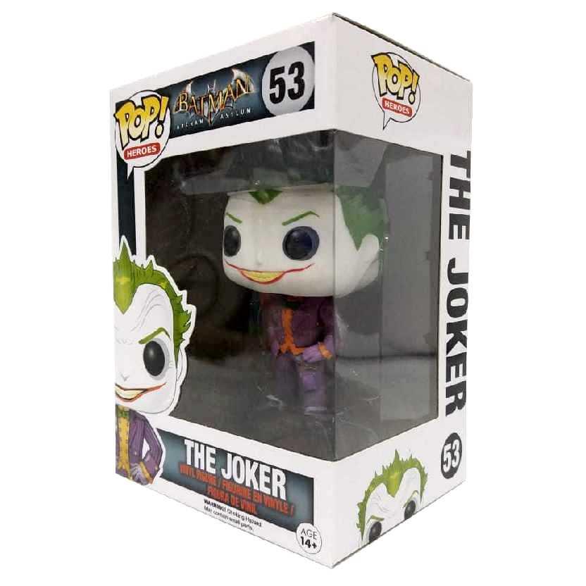 Funko Pop Heroes The Joker Coringa Batman Arkham Asylum vinyl figure número 53