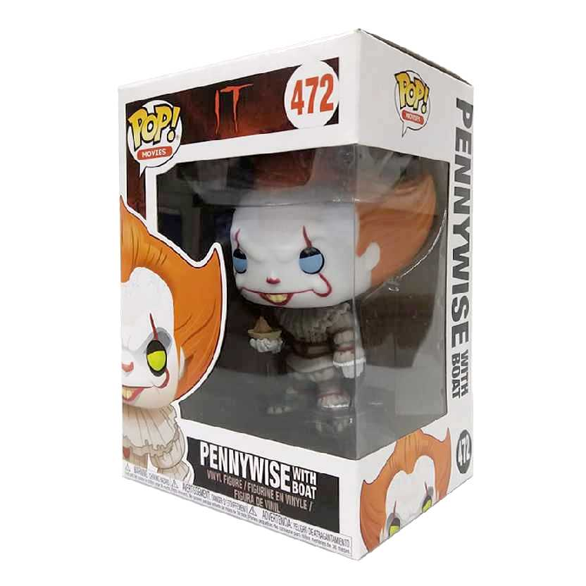 Funko Pop Movies IT A Coisa Pennywise with boat vinyl figure número 472