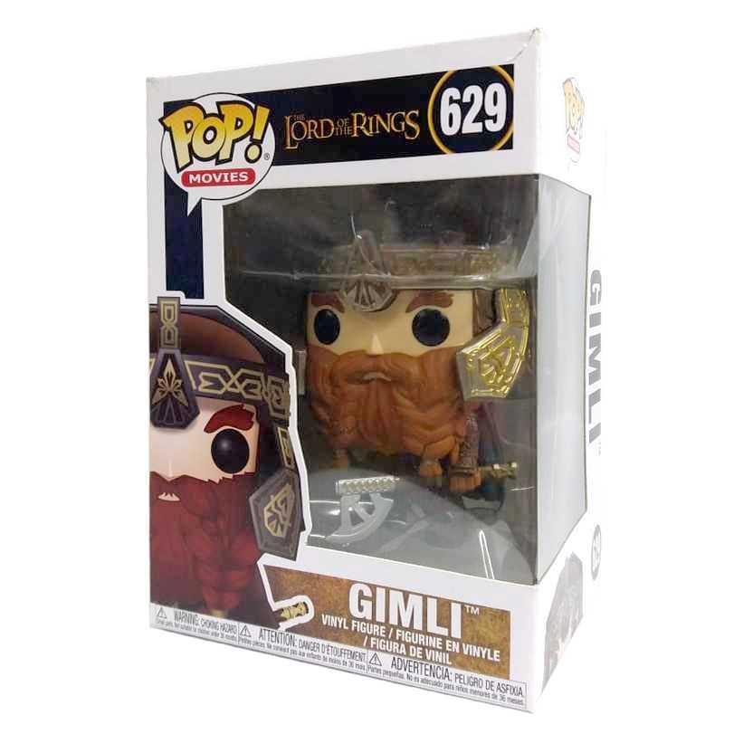 Funko Pop Movies The Lord of the Rings O Senhor dos Anéis Gimli vinyl figure número 629