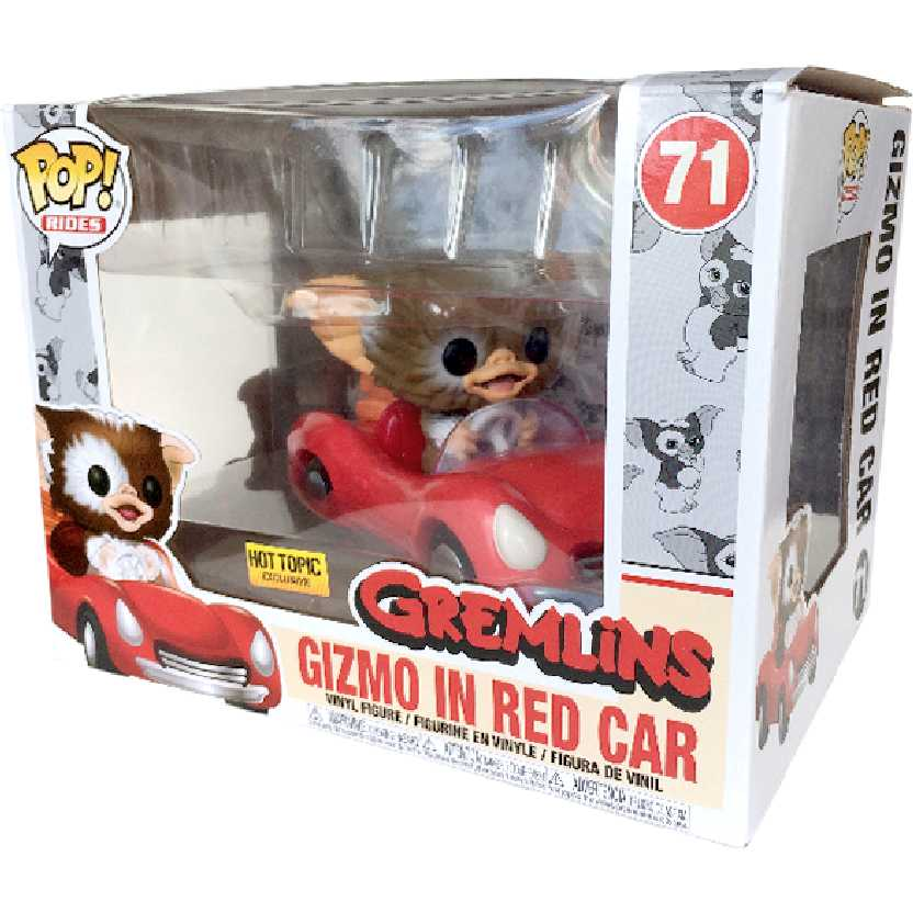 Funko Pop Rides Gizmo in red car (Gremlins) vinyl figure 71