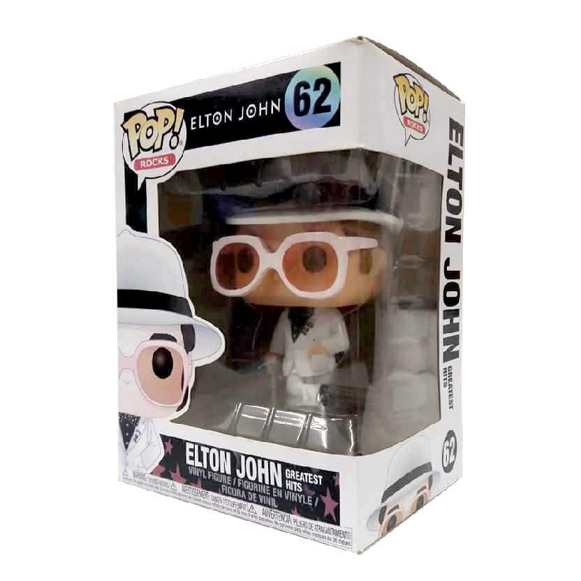 Funko Pop Rock Elton John Greatest Hits + mini Funko no terno vinyl figure número 62 raro