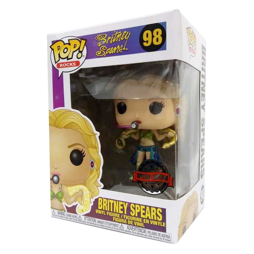 Funko Pop Rocks Britney Spears vinyl figure número 98