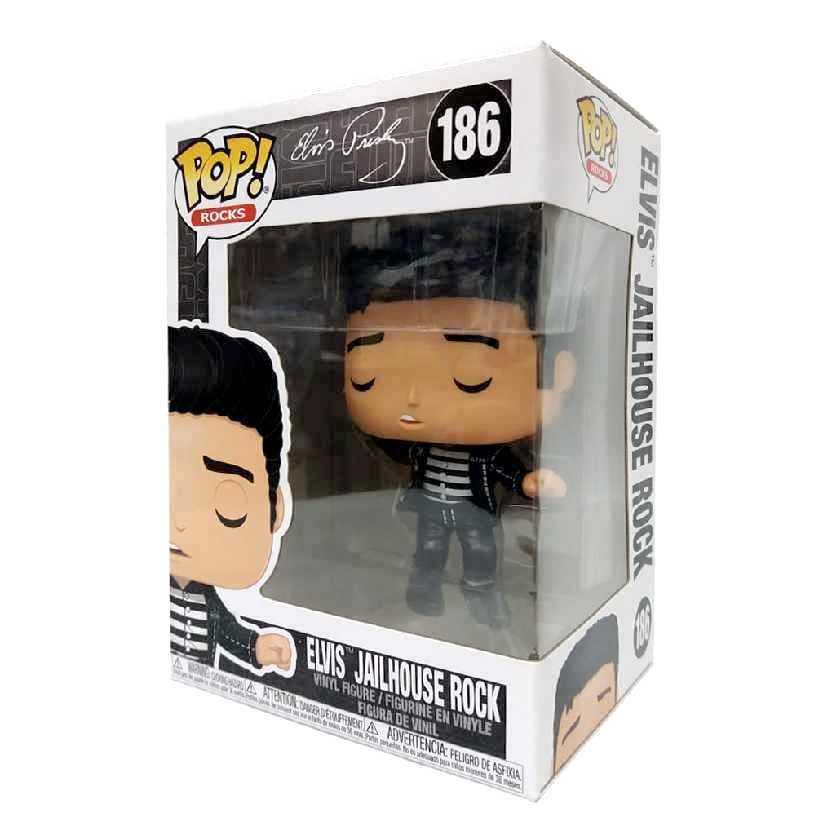 Funko Pop Rocks Elvis Presley Jailhouse Rock vinyl figure número 186