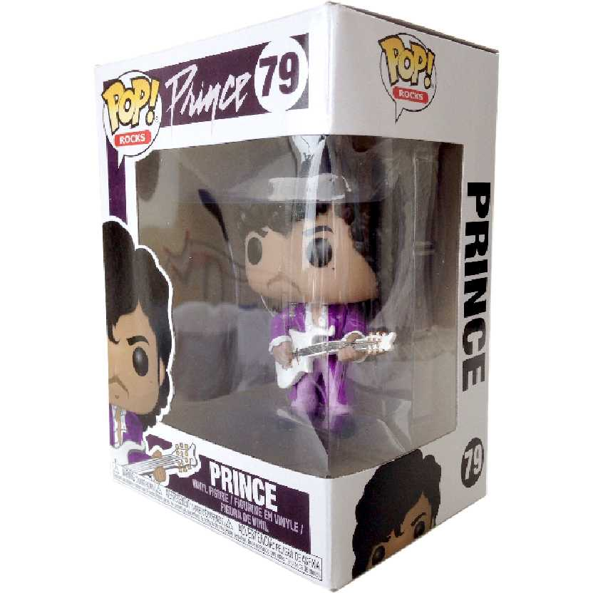 Funko Pop Rocks Prince Purple Rain vinyl figure número 79 Original