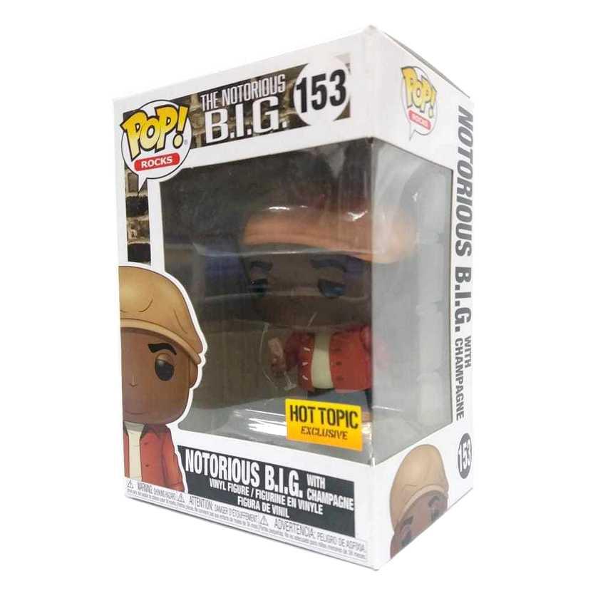 Funko Pop Rocks The Notorious BIG vinyl figure número 153 Hot Topic