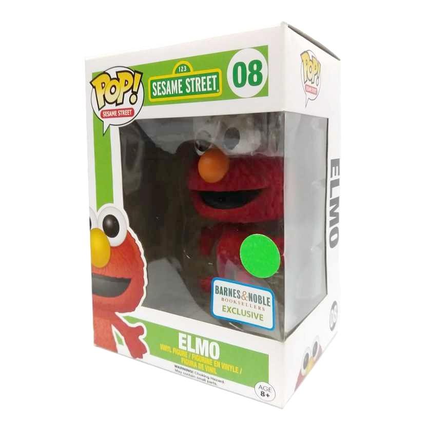 Funko Pop Sesame Street Vila Sésamo Elmo vinyl figure número 08 Flocked Barnes & Noble