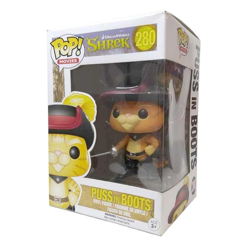 Funko Pop Shrek Gato de Botas (Puss In Boots) vinyl figure número 280 Vaulted