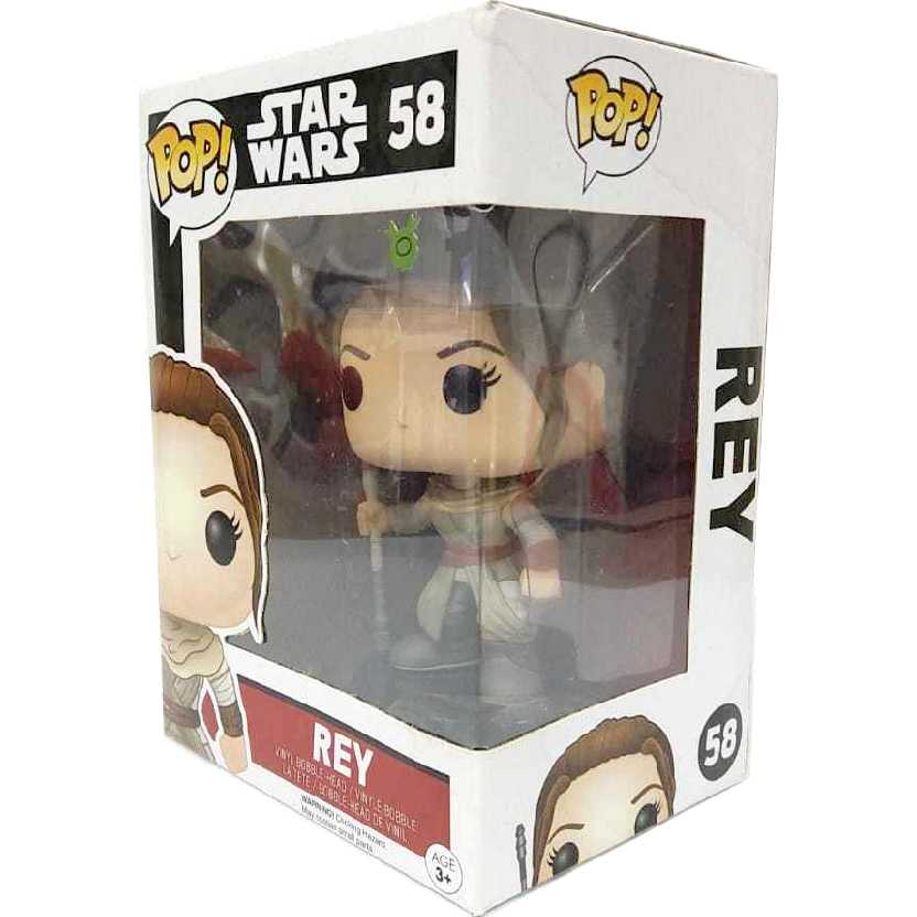 Funko Pop Star Wars O Despertar da Força Rey Episode 7 The Force Awakens número 58
