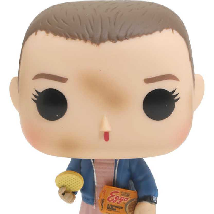 Funko Pop Stranger Things Eleven with Eggos vinyl figure número 421 do Mundo Invertido