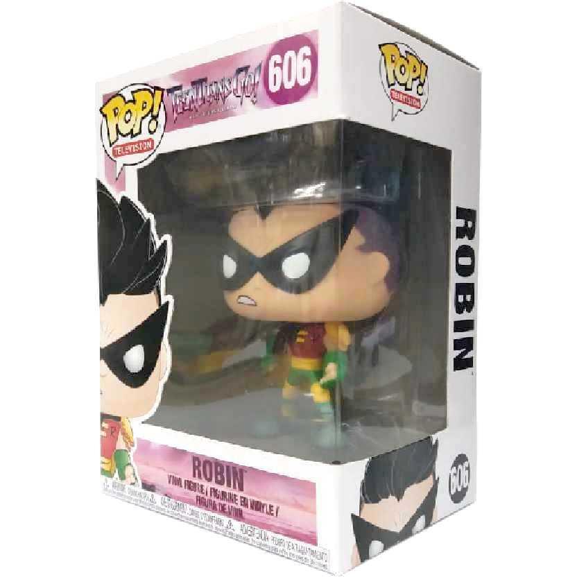 Funko Pop Teen Titans Go (Os Jovens Titãs em Ação) Robin vinyl figure número 606