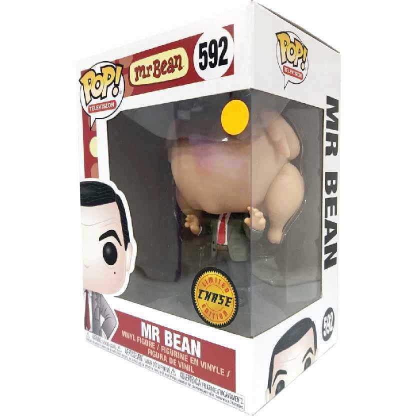 Funko Pop Television CHASE Mr Mister Bean com frango vinyl figure número 592 Original