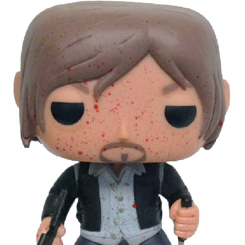 Funko Pop The Walking Dead AMC Biker Daryl (com sangue) PX Previews vinyl figure número 96