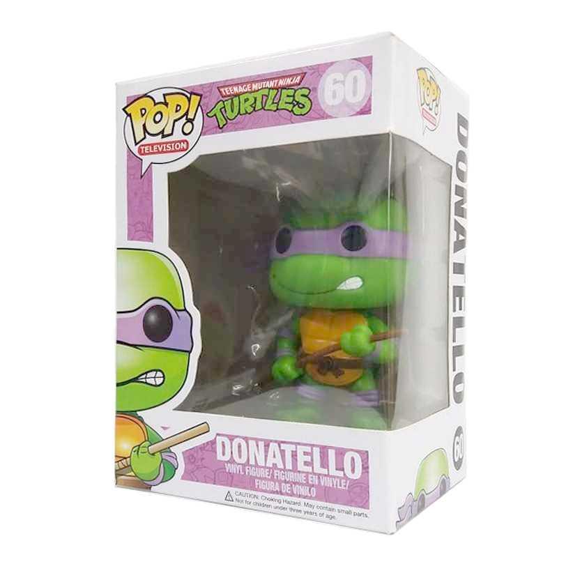 Funko Pop TV Tartarugas Ninjas Teenage Mutant Ninja Turtles Donatello figure número 60