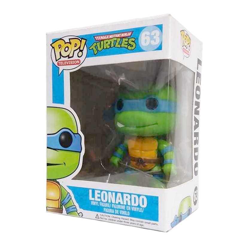 Funko Pop TV Tartarugas Ninjas Teenage Mutant Ninja Turtles Leonardo figure número 63