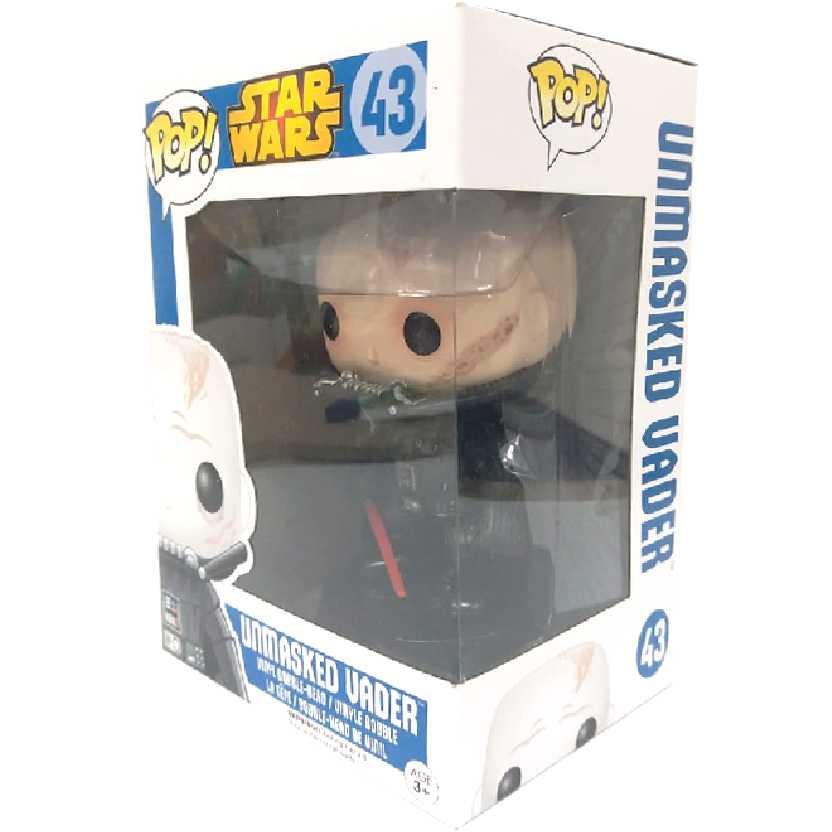 Funko Star Wars POP! Unmasked Darth Vader número 43 Vinyl Figure Guerra nas Estrelas