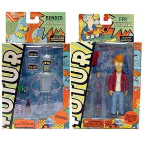Futurama Bender + Fry (2 bonecos)