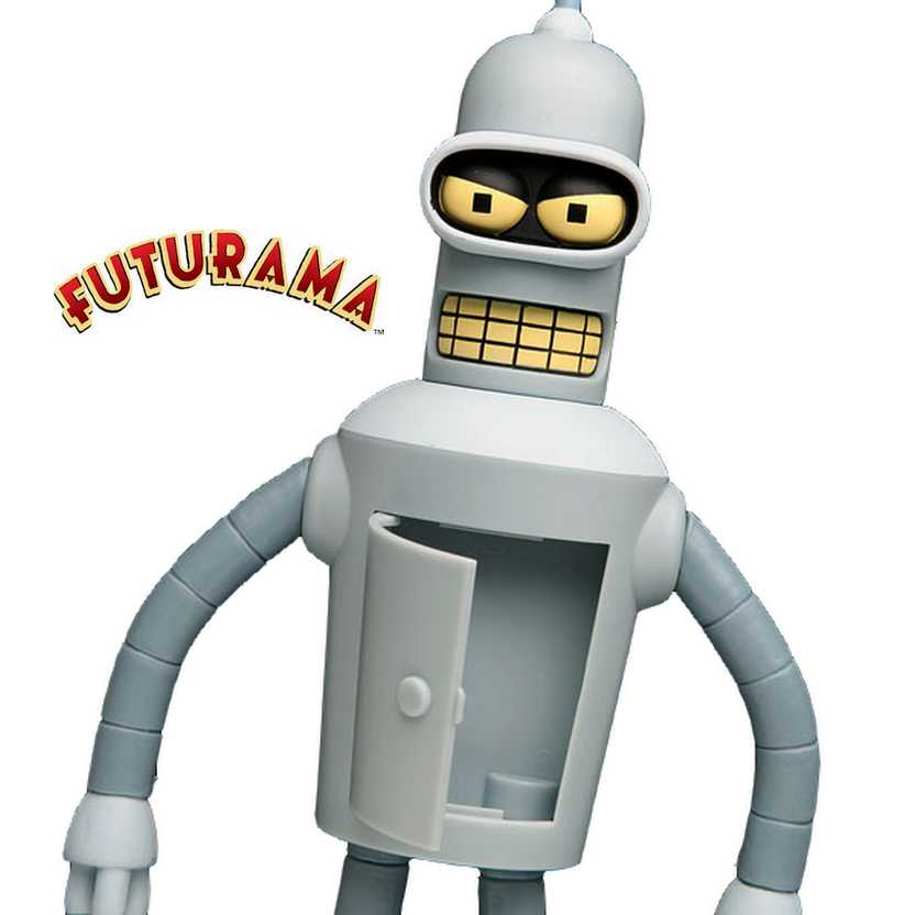 Futurama talking Bender (fala 12 frases) Toynami action figures