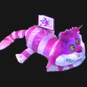 Gato Cheshire com glitter (Alice)