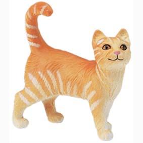 Gato Malhado (laranja) pintado a mão