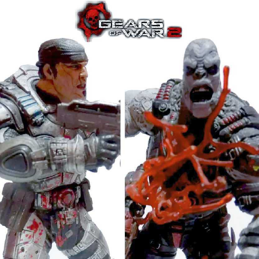 Gears of War 2: Marcus Fenix X Locust Drone (ABERTO) 2 pack Neca Action Figures