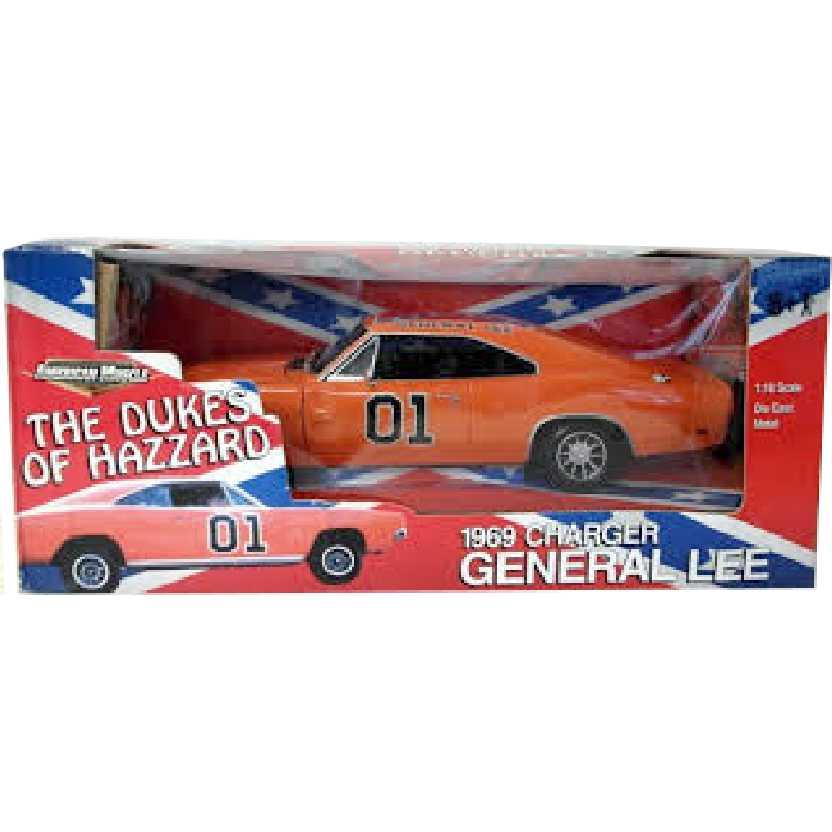 General Lee - Dodge Charger - Os Gatões (1969) ERTL escala 1/18 novo lacrado raridade