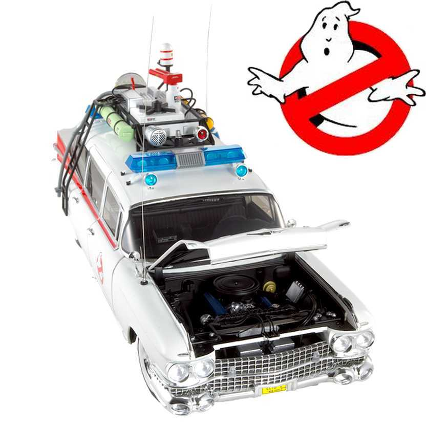 Ghostbusters ECTO-1 Caça Fantasmas Hot Wheels Elite Mattel escala 1/18