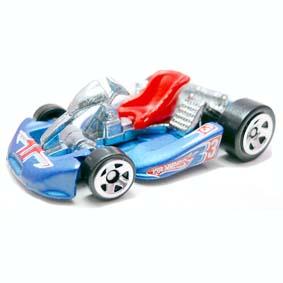 Go Kart 2010 azul Hot Wheels linha 2010 series 075 R7500
