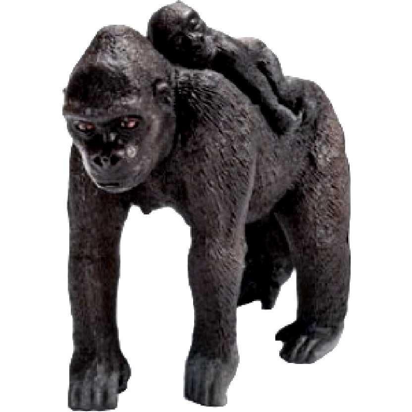 Gorila fêmea com filhote 14662 marca Schleich Gorilla female