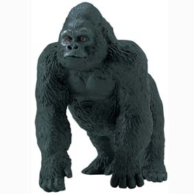 Gorila macho pintado a mão (Safari Ltd) 282829 Lowland Gorilla Male