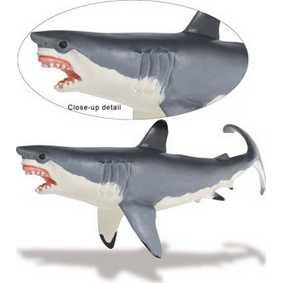 Grande Tubarão Branco ( miniaturas marinhas Safari Ltd ) 211202 Great White Shark