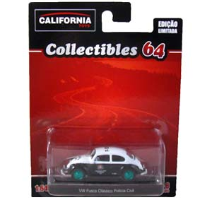 Green Machine Greenlight California Toys Collectibles 64 VW Fusca Polícia Civil SP 1/64