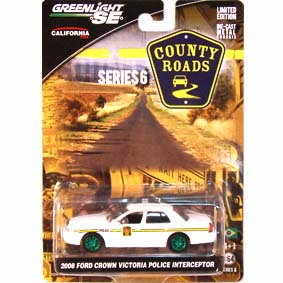 Green Machine :: Greenlight County Roads 1/64 Ford Crown Police (2008) R6 29710