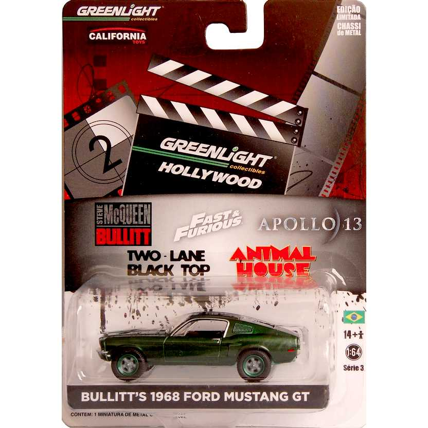 Green Machine Greenlight Hollywood Bullitt - 1968 Ford Mustang GT R3 44630