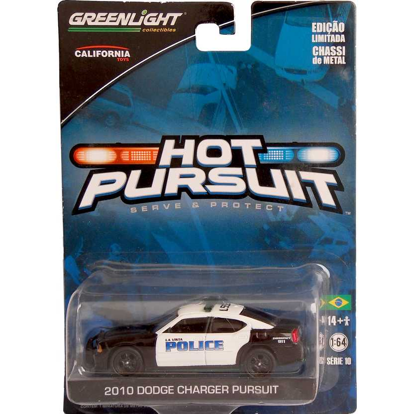 Green Machine GreenLight Hot Pursuit 2010 Dodge Charger Pursuit Police R10 42670