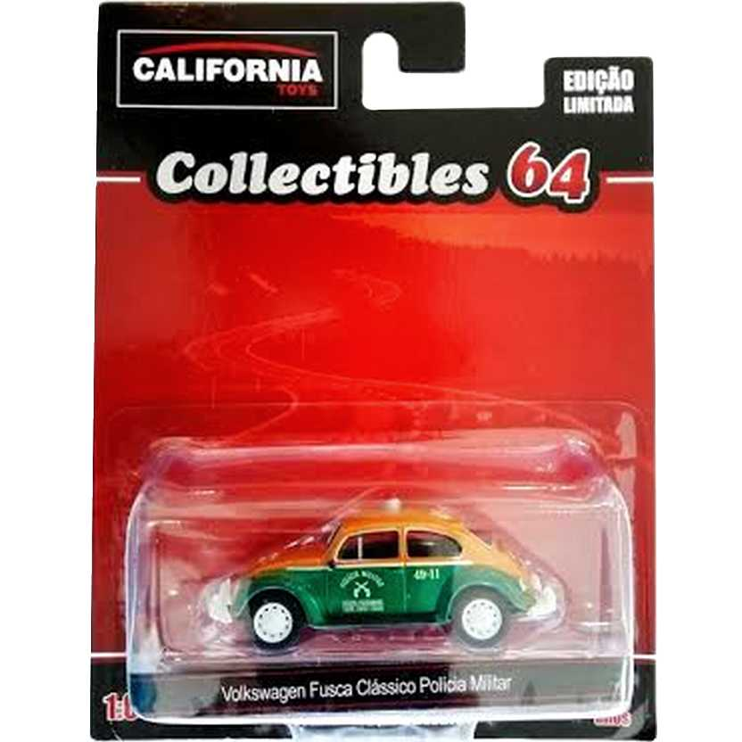 Green Machine VW Fusca Polícia Militar California Toys Collectibles series 2 escala 1/64