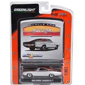 Greenlight 1/64 Muscle Car Garage R10 12680 Miniatura Dodge Charger R/T (1968)