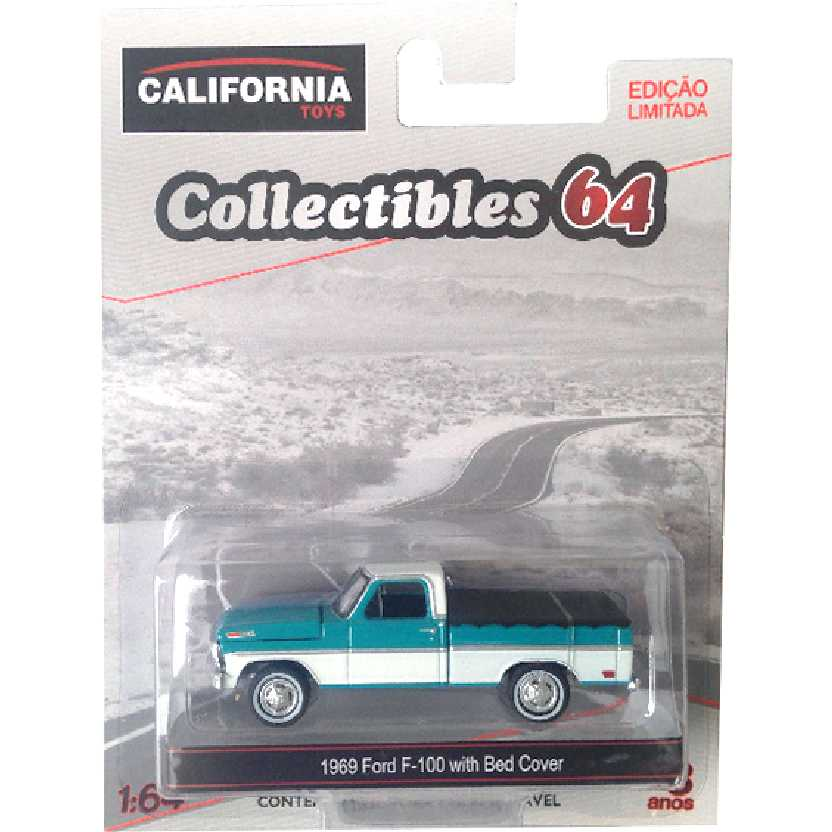 Greenlight 1969 Ford F-100 with Bed Cover escala 1/64