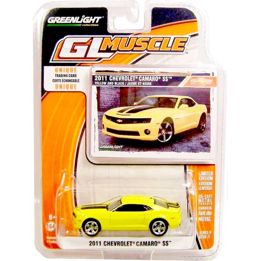 Greenlight 2011 Chevrolet Camaro SS (amarelo) GL Muscle R11 13000 escala 1/64