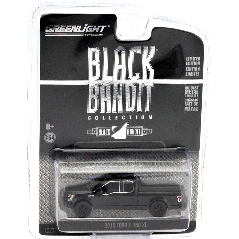 Greenlight Black Bandit Collection series 14 2015 Ford F-150 XL pickup escala 1/64 27840