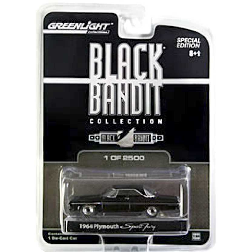 Greenlight Black Bandit Mopar 1964 Plymouth Sport Fury escala 1/64