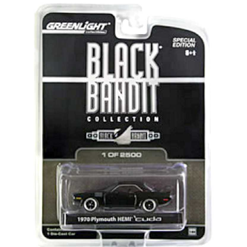Greenlight Black Bandit Mopar 1970 Plymouthy Hemi Cuda escala 1/64