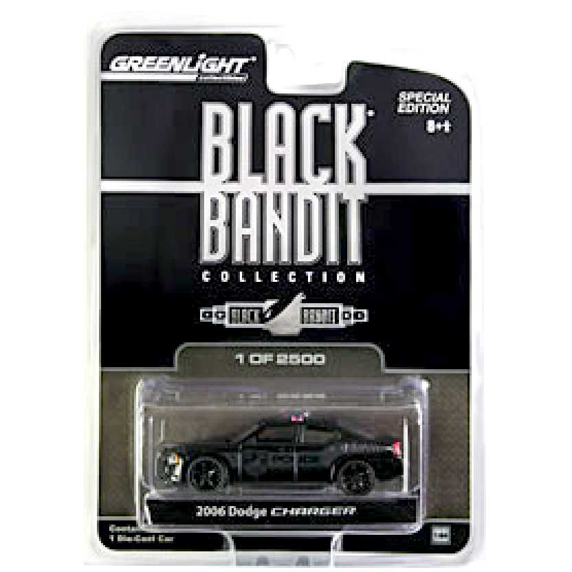 Greenlight Black Bandit Mopar 2006 Dodge Charger Police car escala 1/64