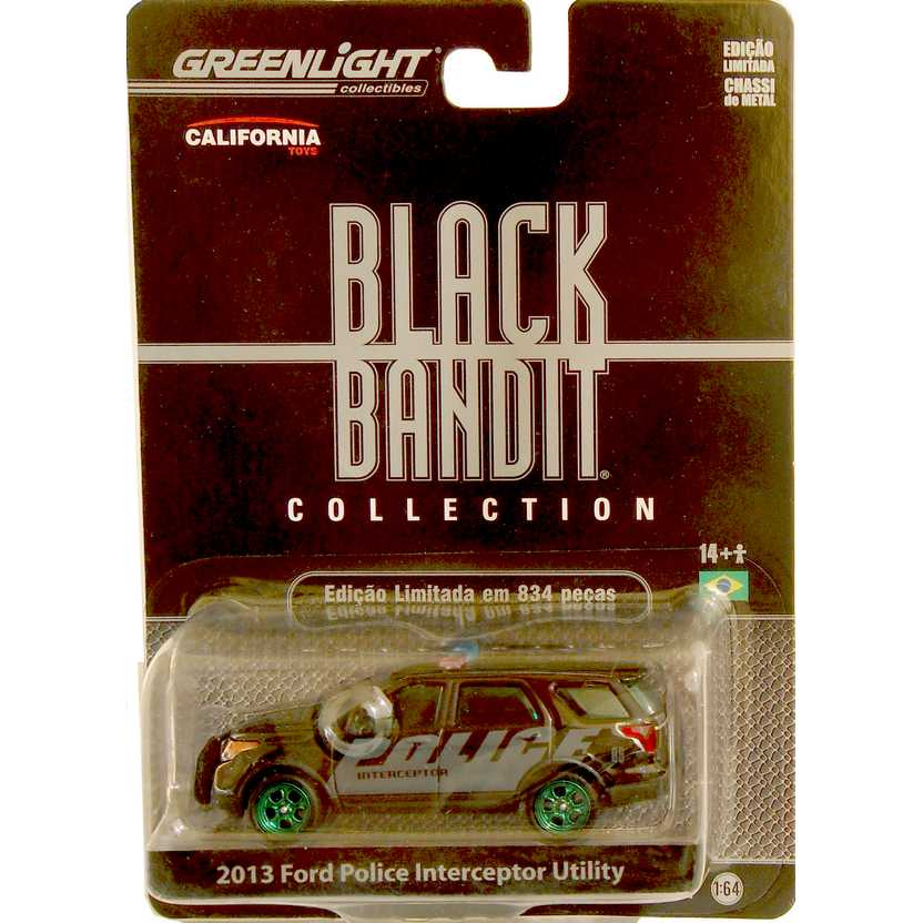 Greenlight Black Bandit R7 Green Machine 2013 Ford Police Interceptor Utility 27690X