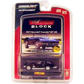 Greenlight Brasil Chevrolet Corvette 427 L88 (1967) Auction Blocks 1/64 R13 21710