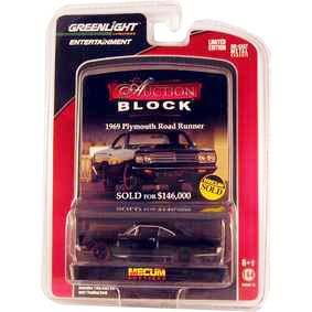 Greenlight Brasil Plymouth Road Runner (1969) Auction Blocks 1/64 R13 21710