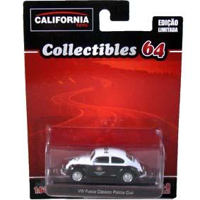 Greenlight California Toys Collectibles 64 VW Fusca Polícia Civil de São Paulo 1/64