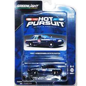 Greenlight Coleção Hot Pursuit Ford Mustang Wisconsin Police (1991) R4 42610