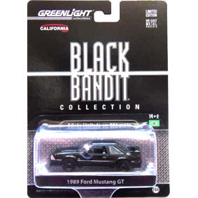 Greenlight Collectibles Black Bandit Ford Mustang GT (1988) série 6 1/64 R6 27670